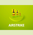 airstrike isometric icon isolated on color vector image