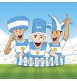 argentina sport fan vector image