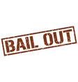 bail out stamp vector image vector image