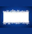 blue christmas gift card merry christmas vector image vector image