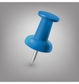 Blue push pin isolated vector image vector image