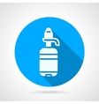 Bottle with pump blue round icon vector image vector image