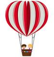 boy and girl on heart balloon vector image