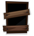 broken window with two boards nailed on it vector image vector image