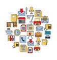 business office supplies equipment applications vector image vector image