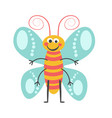 cheerful butterfly with curled antennae and vector image vector image