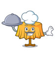 chef with food table cloth mascot cartoon vector image