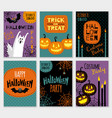 collection of halloween banner templates vector image vector image