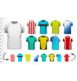 collection various soccer jerseys vector image vector image