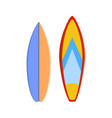 color surfboard set sea extreme sport pattern vector image