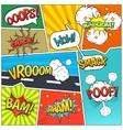 Comics Book Page Bubbles Composition Print vector image