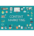 content marketing vector image vector image