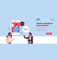 couple chat bubbles mobile application vector image vector image