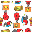 doodle cute circus theme collection vector image vector image