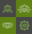 eco settlement logo set vector image