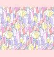 fantasy crystals pattern vector image vector image