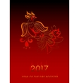 Fire Bird Chinese New Year Symbol vector image vector image