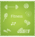 Fitness board vector image