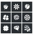 Flowers icons vector image vector image