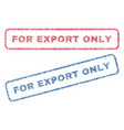 for export only textile stamps vector image vector image