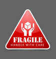 Fragile icon vector image vector image