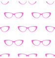 glasses seamless pattern background cute vector image vector image