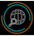 global network icon - internet technology vector image