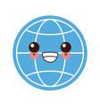 global sphere symbol kawaii cute cartoon vector image vector image
