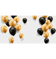 gold and black balloons vector image