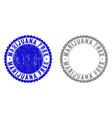 grunge marijuana free textured stamp seals vector image vector image