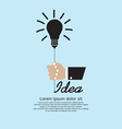 Hand Holding Light Bulb Inspiration vector image