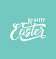 happy easter text with bunny for logotype badge vector image vector image