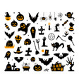 happy halloween magic collection wizard vector image vector image