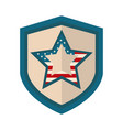 happy independence day american flag shield star vector image vector image