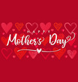 happy mothers day poster with sketch hearts vector image vector image