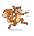 Happy Squirrel vector image vector image