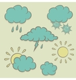 Icons images of weather vector image