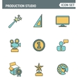 Icons line set premium quality of content vector image vector image