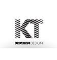 kt k t lines letter design with creative elegant vector image vector image
