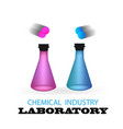 laboratory chemical vials vector image