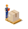 Man Delivery of Goods Isolated Design vector image vector image