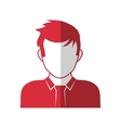 Man head and torso silhouette icon Avatar male vector image vector image