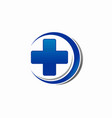 medical cross symbol logo vector image vector image