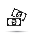 money icon flat dollar money sign symbol with vector image vector image