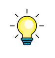 nice bulb idea to create and invent vector image