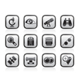 Optic and lens equipment icons vector image