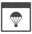 Parachute Calendar Page Grainy Texture Icon vector image vector image