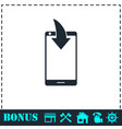 phone download notification icon flat vector image vector image