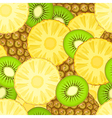 Pineapple and kiwi seamless pattern vector image vector image