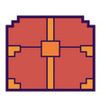 pixelated video game treasure chest fortune vector image vector image